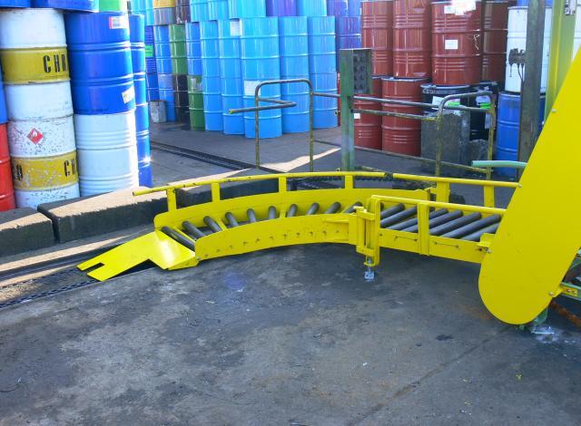 Galloo Konstruktie losse rollerbaan bocht gravitair