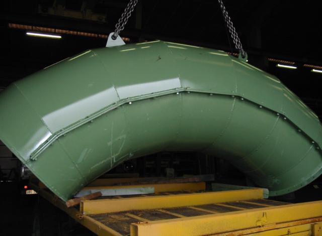 Galloo konstruktie slijstukken slijtstaal bocht