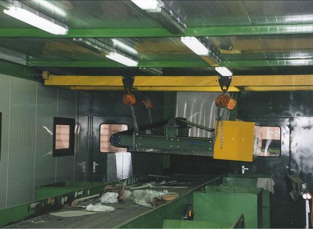 Galloo Konstruktie afvalverwerking sorteercabine bovenbandmagneet