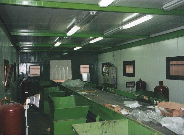 Galloo Konstruktie afvalverwerking sorteercabine
