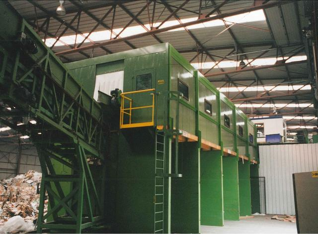 Galloo Konstruktie afvalverwerking sorteercabine bunkers