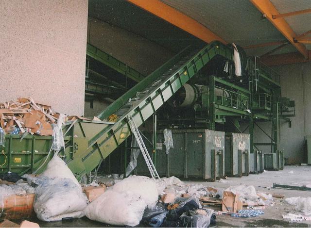 Galloo Konstruktie afvalverwerking transportband trommel