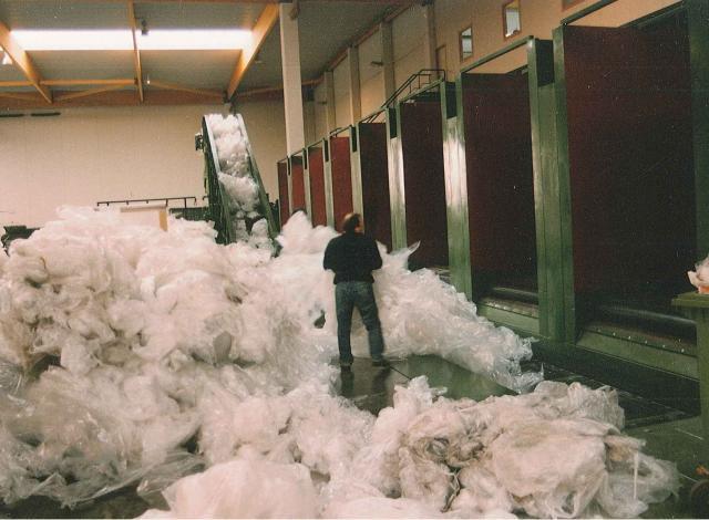 Galloo Konstruktie afvalverwerking transportband bunkers