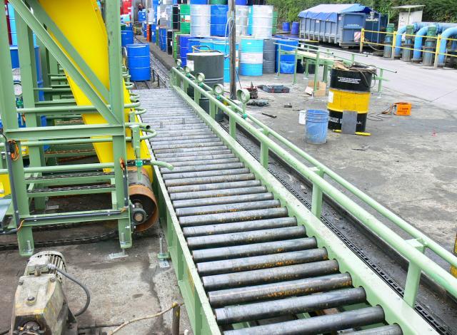 Galloo Konstruktie gedreven rollerbaan vaten accumulatie