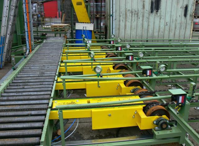 Galloo konstruktie selectiebandjes kettingtransporteurs