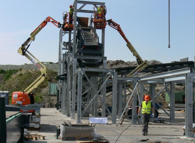 Galloo konstruktie mâchefer bodemassen montage staalstructuur