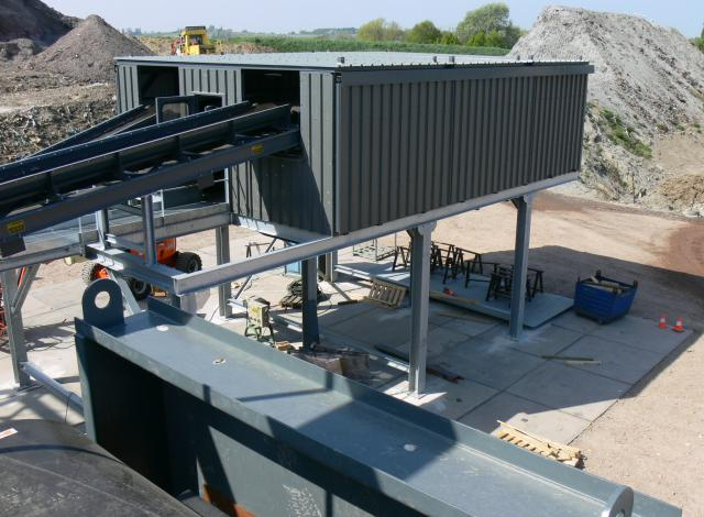 Galloo konstruktie mâchefer bodemassen sorteercabine