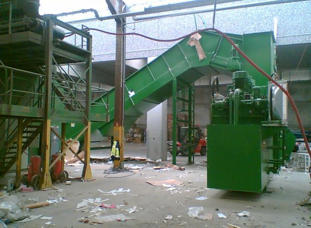 Galloo Konstruktie afvalverwerking transportband balenpers