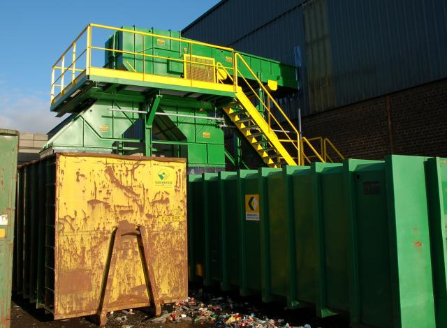 Galloo Konstruktie transportband residu met wisselklep