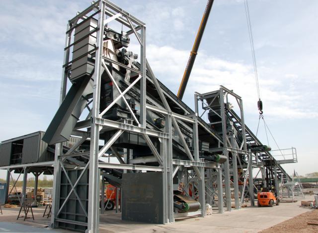 Galloo konstruktie mâchefer bodemassen installatie