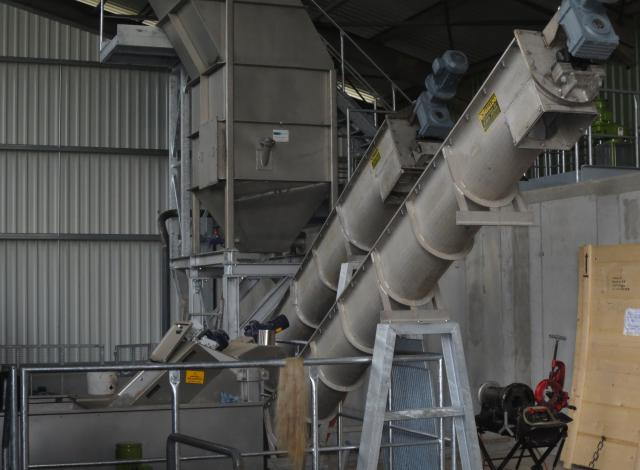 Galloo konstruktie transportschroeven slibverwerking