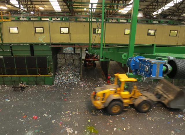 Galloo Konstruktie afvalverwerking transportband residu