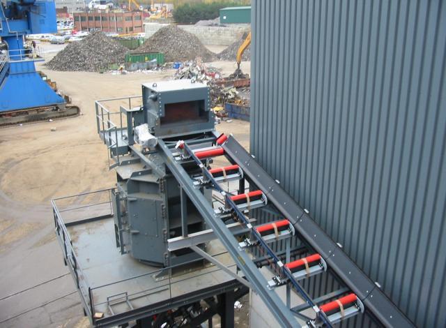 Konstruktie Galloo montage transportbanden liftube